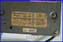 80s RETRO PIONEER KEX 73 CAR RADIO CASSETTE PLAYER + GM-4 AMPLIFIER