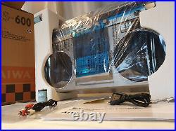 AIWA CS-600 METAL Radio Cassette Recorder DSL Bass Ghettoblaster BOOMBOX WORD AC