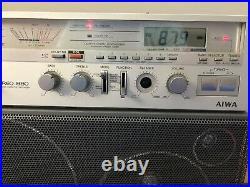 Aiwa CS-880U Vintage BoomBox Cassette Player VHTF Rare New Belts And Cones