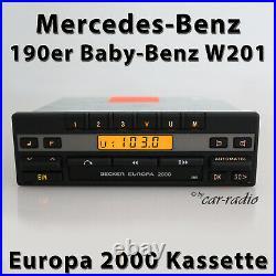Becker Europa 2000 BE1100 Kassettenradio Mercedes W201 C-Klasse 190er Autoradio