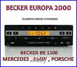 Becker Europa 2000 BE1100 Mercedes W107 W123 W124 W126 W140 W201 R107 R126 R129