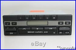 Becker Europa 2000 BE1100 Oldtimer Youngtimer Autoradio Kassettenradio Bronze