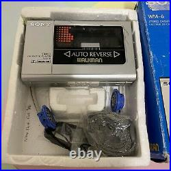 Boxed Sony Walkman WM-6 Restored With Strap & Headphones Cosmetic Issues