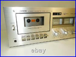 KENWOOD KX-1030 Stereo Cassette Tape Deck Recorder Player Working well