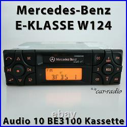 Original Mercedes Audio 10 BE3100 Becker Kassette W124 Radio E-Klasse Autoradio