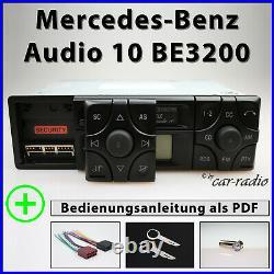 Original Mercedes Audio 10 BE3200 Becker Radio A2088200386 CC Kassettenradio Set