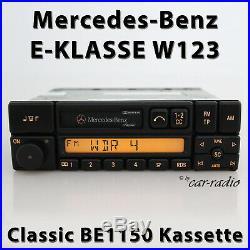 Original Mercedes Classic BE1150 Kassette W123 Radio E-Klasse Becker Autoradio