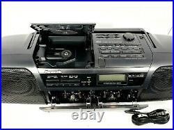 Panasonic RX-DT5 Vintage Boombox CD Dual Cassette Tape Player Record AM/FM Radio