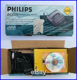 Philips DCC175 Portable Digital Compact Cassette with DCC link cable, boxed