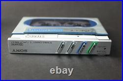 Pristine Silver Sony Walkman WM-20 Refurbished with new belt & Playing Perfectly