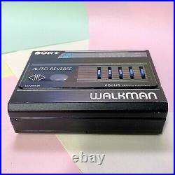 Rare Retro Sony Walkman WM-F60 Black Player Fully Refurbished Working Order