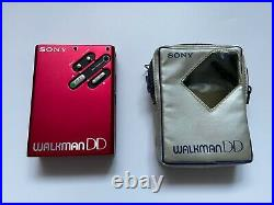 Rare SONY Walkman WM-DD Red Restored Personal Cassette Player First DD