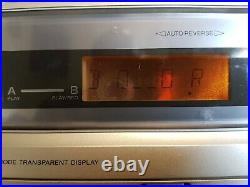 Rare Sony CMT-CP333 3-CD changer, Dual cassette player Micro Hi-Fi Stereo-200W