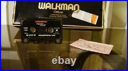 Rare walkman sony wm 3 mdr 3 with box manual stéréo cassette player no tps l2