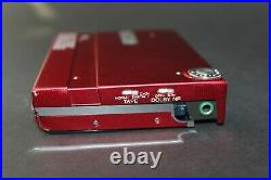 Red Sony Walkman WM-30 & Case Serviced with new belt and Working Perfectly