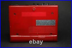 Red Sony Walkman WM-F15 & Accessories Serviced with new belt & Working Perfectly