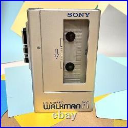 Retro 1980s SONY STEREO WALKMAN F-1 (wm4) STEREO CASSETTE PLAYER Refurbished