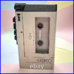 Retro 1980s SONY TCS 350 STEREO CASSETTE Recorder Like Wm4 Refurbished Working