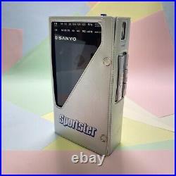 Retro Rare Sanyo Sportster Model M-G32 Radio Cassette Player Serviced Functional