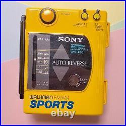 Retro Sony Sports Walkman F63-f73 Fm Radio Cassette Player Serviced New Caps
