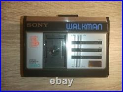 SERVICED Retro Sony Walkman WM-33 NEW BELT! Personal stereo Cassette Player