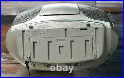 SONY CFD-S300 MegaBase CD Player Radio Cassette Boombox FULLY REFURBISHED
