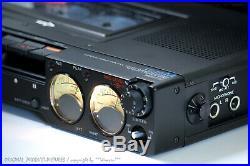 SONY TC-D5M Portable Profi Reporter Cassettedeck+Zubehör! Serviced+1J. Garantie