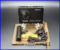 SONY WALKMAN WM-EX600 Personal Cassette Player remote AA pack Full working RARE