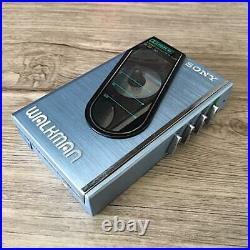 SONY Walkman WM-30 Cassette Player Stereo Blue Maintained 1984 Vintage