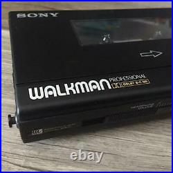 SONY Walkman WM-D6C Professional Cassette Player Stereo Black