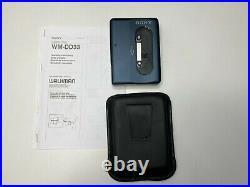 SONY Walkman WM-DD33 BLUE TOP Condition Personal Cassette Player