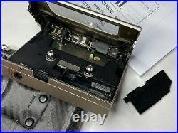 SONY Walkman WM-DDII WM-DD2 Champagne Gold Restored Personal Cassette Player