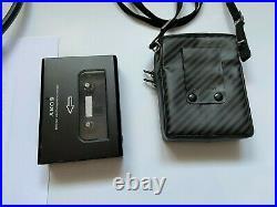 SONY Walkman WM-DDII WM-DD2 Restored with SONY MDR-110 Headphones and Bag