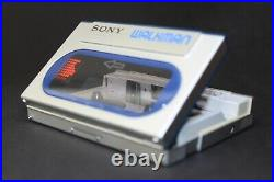 Silver Sony Walkman WM-20 Serviced with New Belt and Working Perfectly