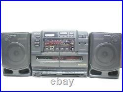 Sony CFD-540 AM/FM Radio CD Player Cassette Player Original Box Boombox