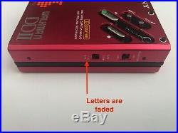 Sony WM-DD2 RED, near mint! Completely restored, very beautiful