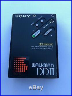 Sony WM-DD2 black, completely restored new gear pinch roller and capstan
