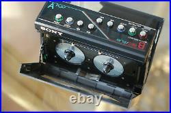 Sony WM-W800 Doppel-Walkman gesuchtes Sammlerstück TOP Zustand Riemen NEU