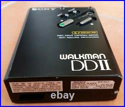 Sony Walkman DD-2 BLACK, TOP CONDITION, 100% RESTORED, with CASE and MANUAL