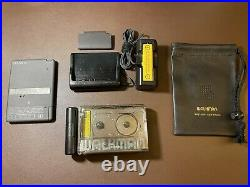 Sony Walkman WM-504 Cassette Player Excellent Working! With charger/stand/bag