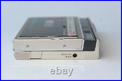 Sony Walkman WM-F30 & Case Serviced with new belt and playing Perfectly