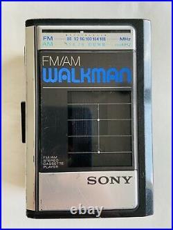 Sony Walkman WM-F41 Refurb works excellent Original MDR-010 Orange Headphones