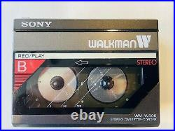 Sony Walkman WM-W800 Cassette-Corder Fully Functional Refurbished Dual Deck