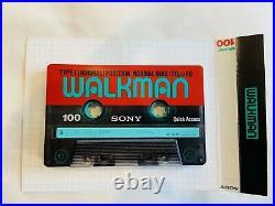 Sony Walkman WM-W800 Cassette-Corder Fully Functional Refurbished MDR-A20