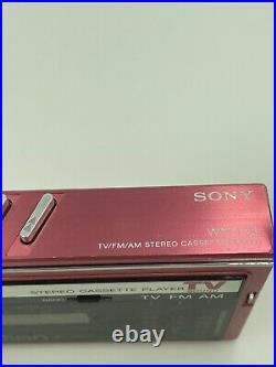 Sony Walkman wm-f30 refurbished and fully working Pink VINTAGE RARE