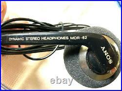 Sony Wm-d6c Minty Perfect Operation, Mdr-62 Headphones, New Ecm-939 MIC Kit More
