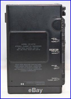 Ultra Rare Kenwood Cp-s710 Stereo Recording Walkman, Am/fm. Usb Charging Battery