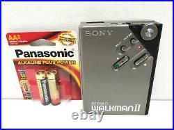 VINTAGE SONY WM-2 Stereo WALKMAN Cassette TAPE PLAYER NEW BELT WORKS PERFECT
