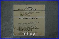 Vintage Alpine 7159 AM/FM cassette car stereo #3 Lambo Ferrari BMW old rare