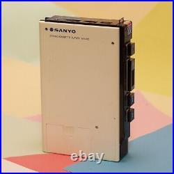 Vintage Retro Sanyo M4430 Walkman white Cassette Player, Pitch Control Counter